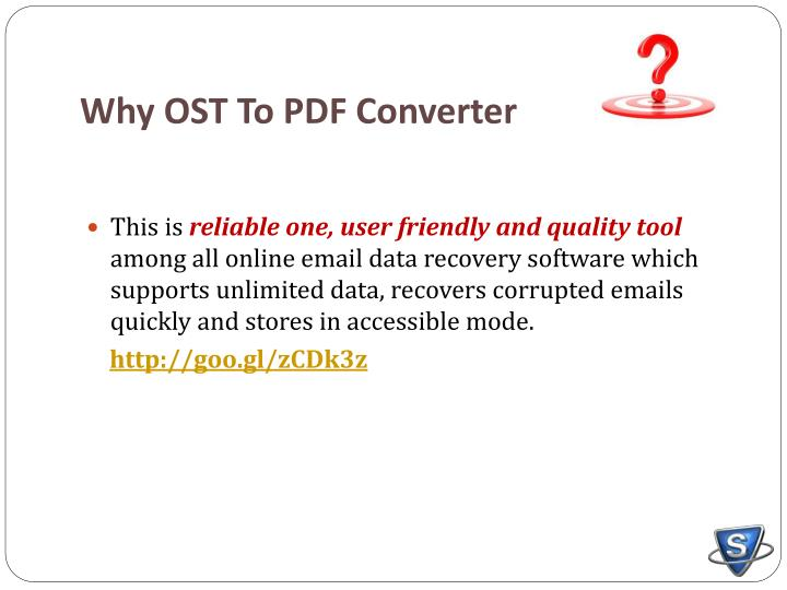 Why OST To PDF