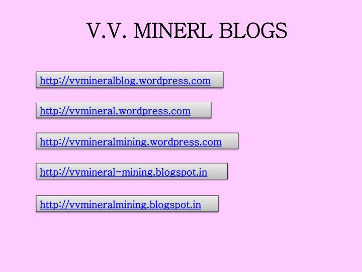 V.V. MINERL BLOGS