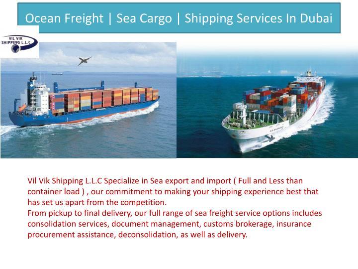 Ocean Freight | Sea Cargo | Shipping Services In Dubai