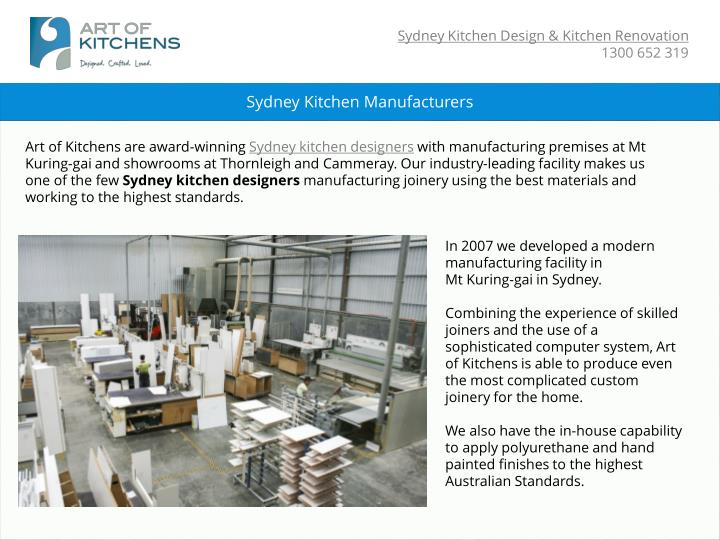 Sydney Kitchen Manufacturers