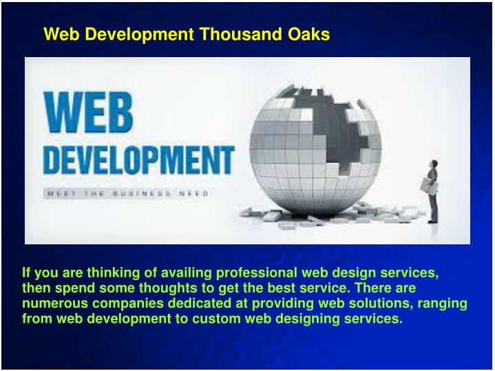 Web Development Thousand Oaks