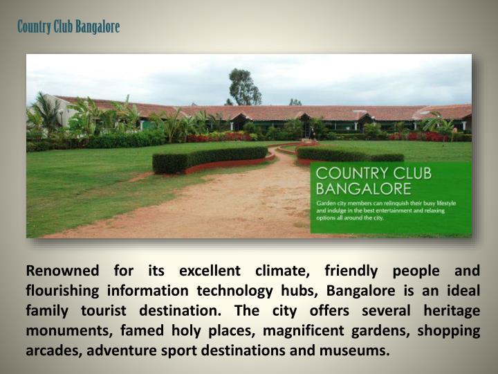 Country Club Bangalore