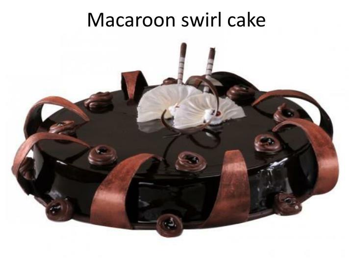 Macaroon swirl cake