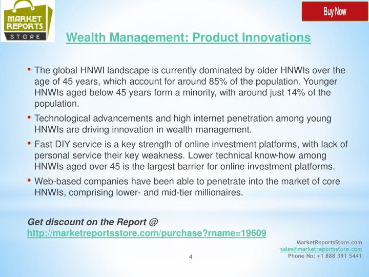Wealth Management: Product Innovations