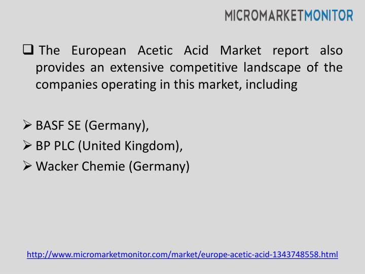 The European Acetic Acid