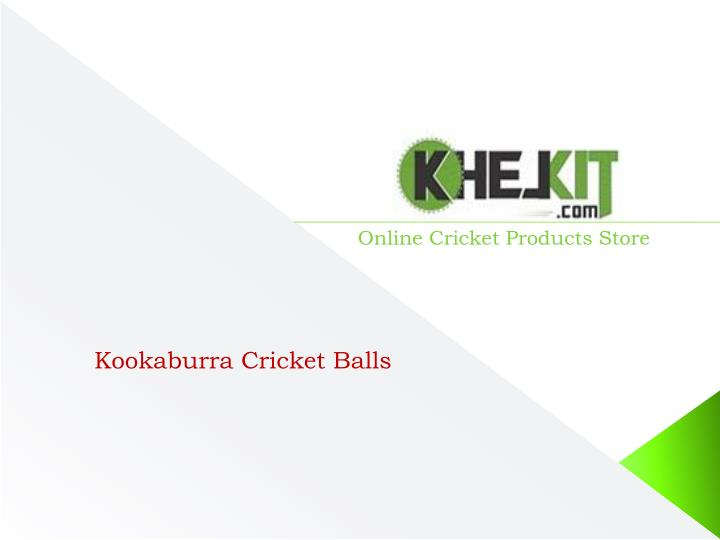 Online Cricket Products Store