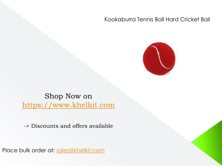 Kookaburra Tennis Ball Hard Cricket Ball