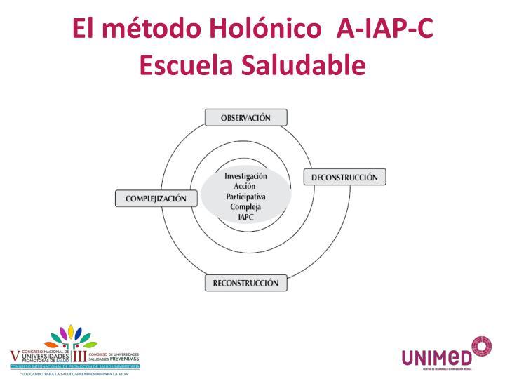 El método Holónico  A-IAP-C