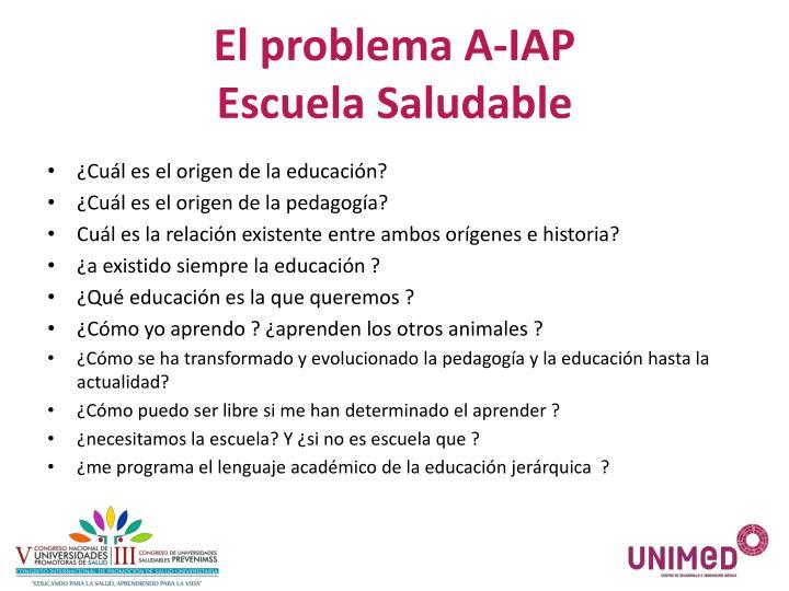 El problema A-IAP