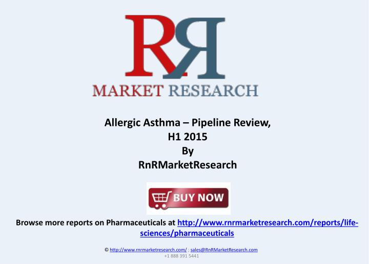 Allergic Asthma – Pipeline