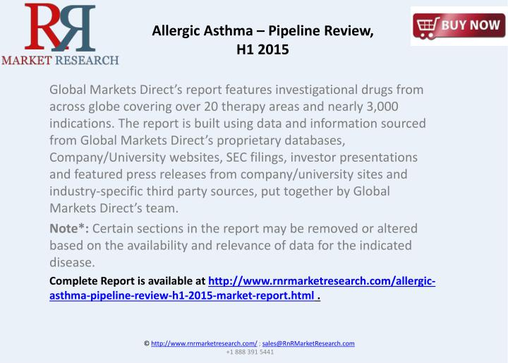 Allergic Asthma – Pipeline Review,