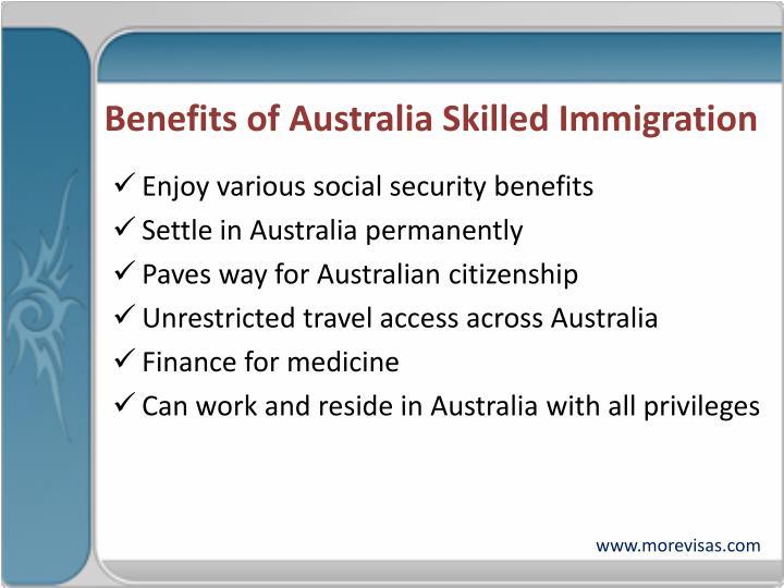 Benefits of Australia Skilled Immigration