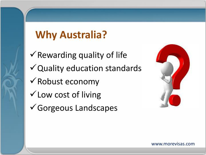 Why Australia?