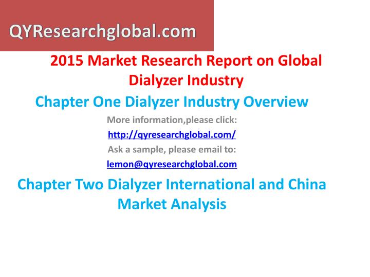 2015 market research report on global dialyzer industry1