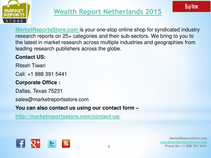 Wealth Report Netherlands 2015