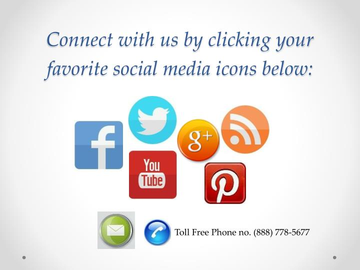 Connect with us by clicking your favorite social media icons below: