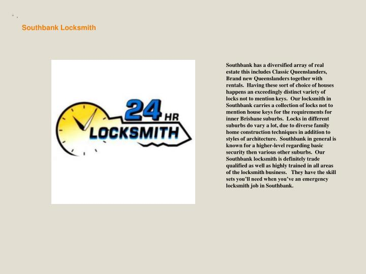 Southbank Locksmith