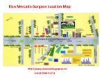 elan mercado gurgaon location map