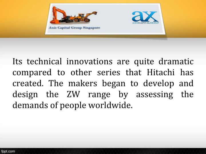 Its technical innovations are quite dramatic compared to other series that Hitachi has created. The makers began to develop and design the ZW range by assessing the demands of people worldwide.