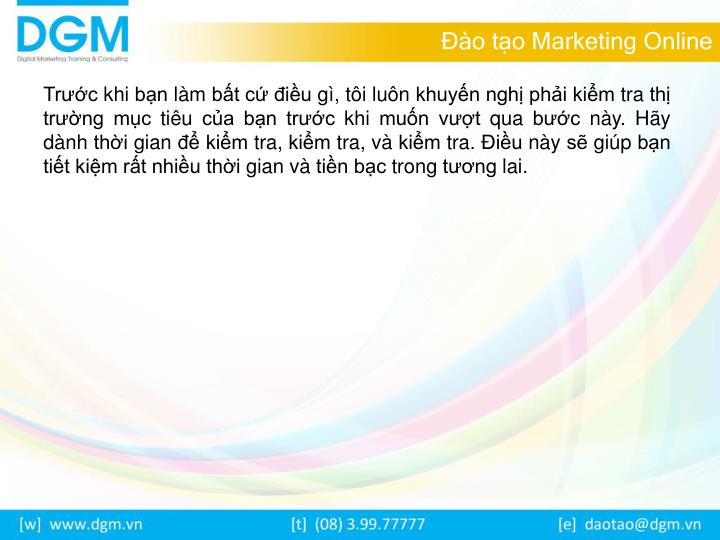 Đào tạo Marketing Online