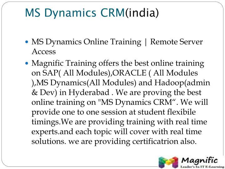 MS Dynamics CRM