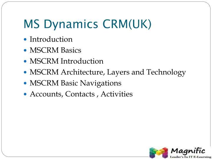 MS Dynamics CRM(UK)