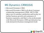 ms dynamics crm usa