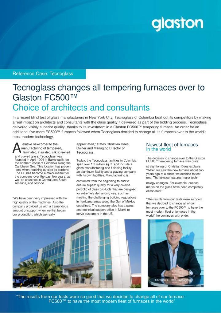 Reference Case: Tecnoglass