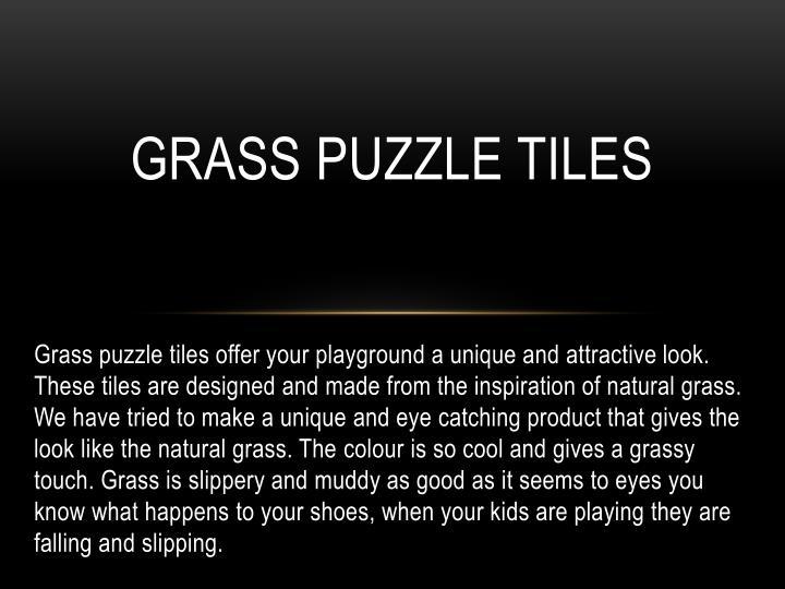 Grass Puzzle Tiles