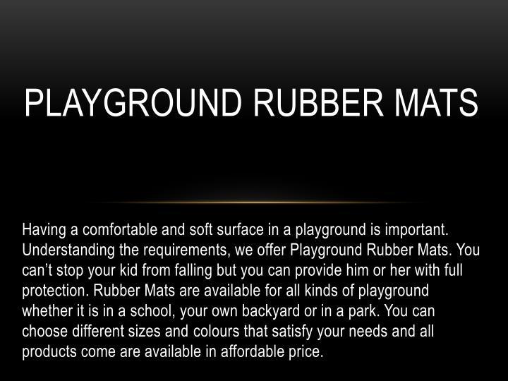 Playground Rubber Mats