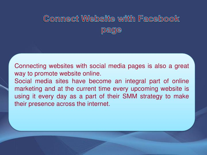Connect Website with Facebook page