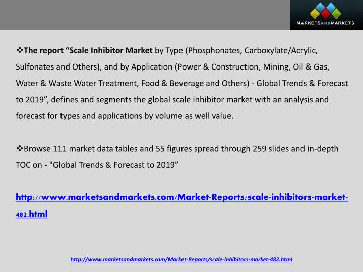 "The report ""Scale Inhibitor Market"