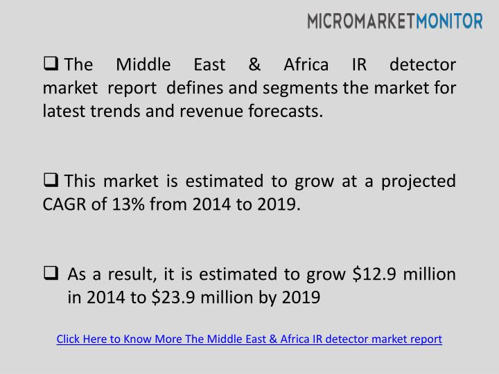 The Middle East & Africa IR detector market