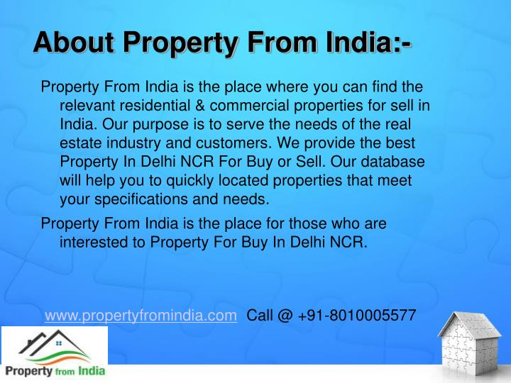 About property from india