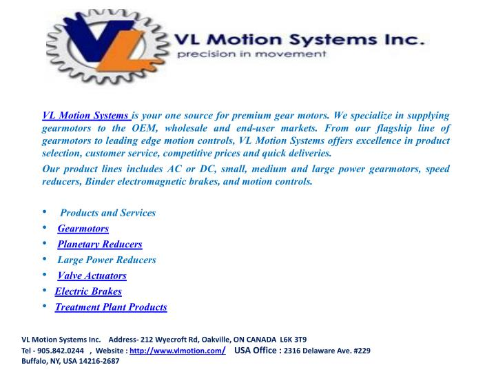 VL Motion Systems