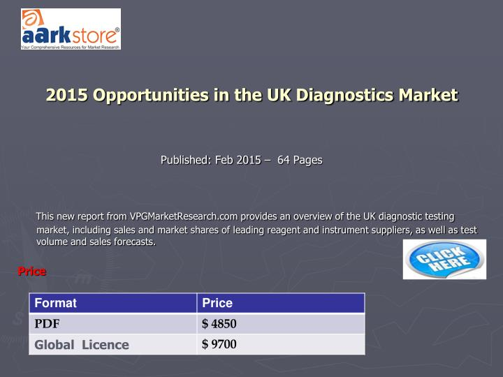 2015 Opportunities in the UK Diagnostics Market