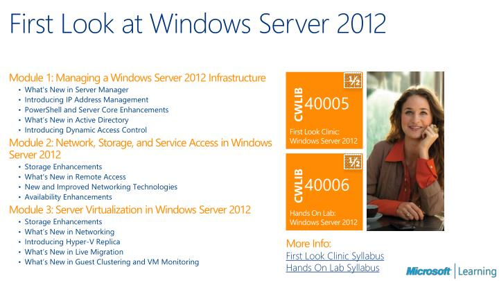First Look at Windows Server 2012