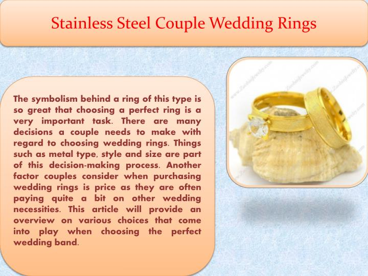 Stainless Steel Couple Wedding Rings
