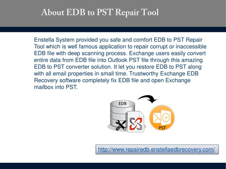 About edb to pst repair tool