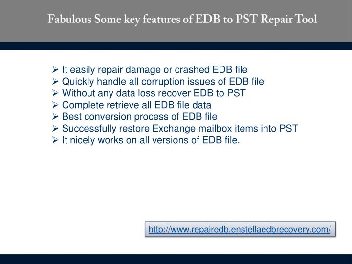 Fabulous Some key features of EDB to PST Repair Tool
