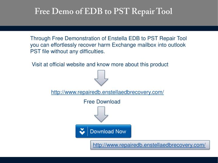 Free Demo of EDB to PST Repair Tool