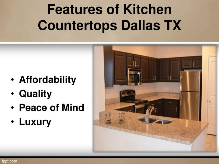 Features of kitchen countertops dallas tx
