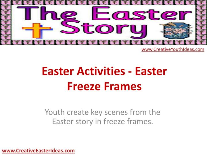 Easter activities easter freeze frames