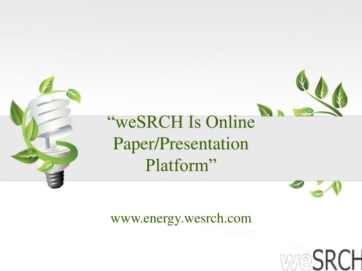 """weSRCH Is Online"