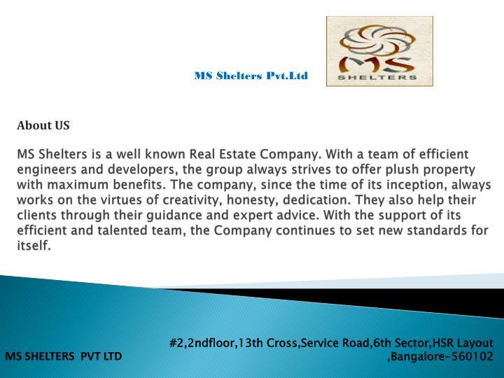 MS Shelters Pvt.Ltd