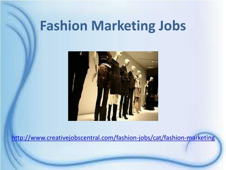 Fashion Marketing Jobs
