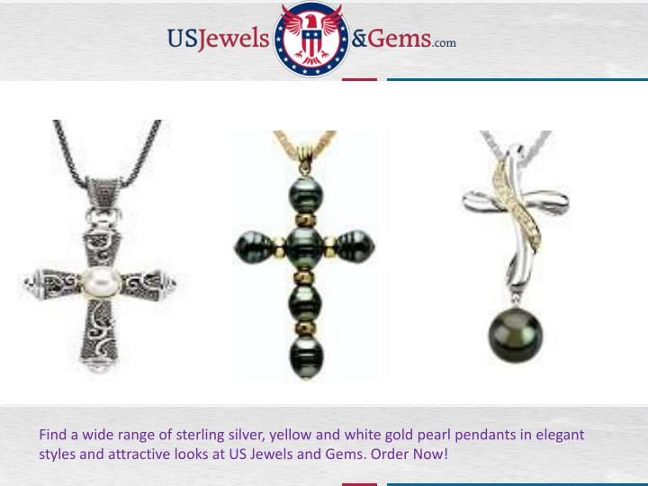 Find a wide range of sterling silver, yellow and white gold pearl pendants in elegant