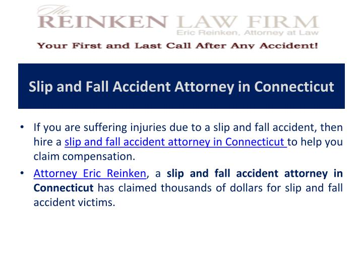 Slip and Fall Accident Attorney in Connecticut
