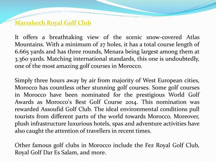 Marrakech Royal Golf Club