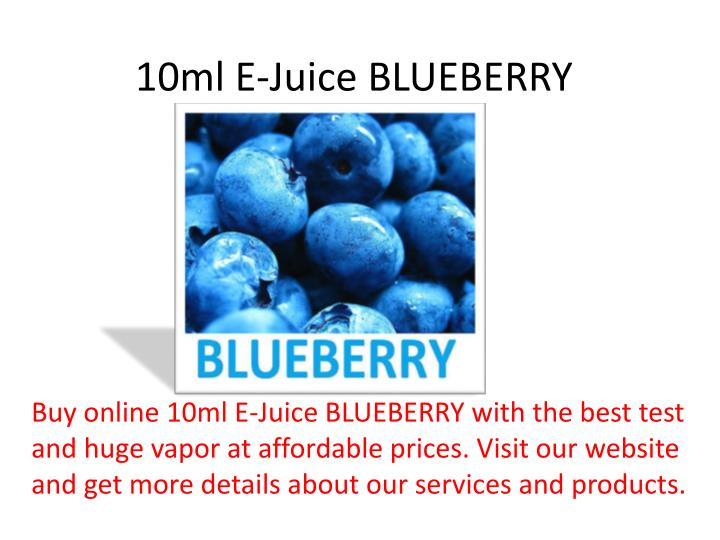 10ml e juice blueberry